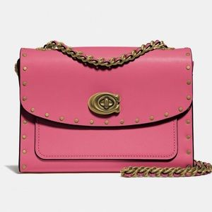 NWT Coach Parker 18 with Rivets in Pink Orchid